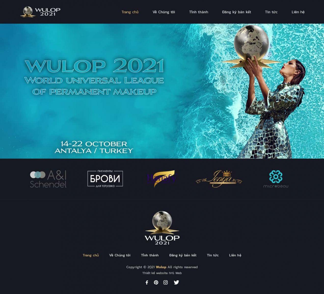 Dự án thiết kế website công ty Wulop