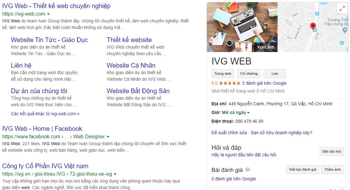 Google Business - IVG Web