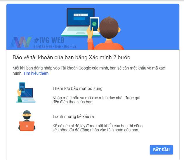 Bước 2- Hướng dẫn Bật bảo mật 2 lớp Gmail