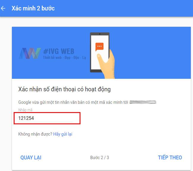 Bước 4- Hướng dẫn Bật bảo mật 2 lớp Gmail