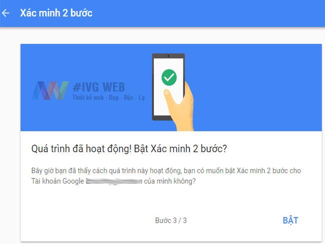 Bước 5- Hướng dẫn Bật bảo mật 2 lớp Gmail