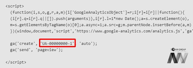 Mã code nhúng Google Analytics