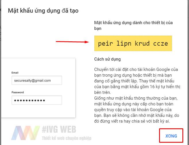 Bước 5 - Tạo mật khẩu ứng dụng Gmail