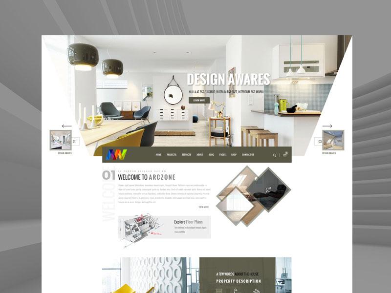 website thiết kế thi công nội thất
