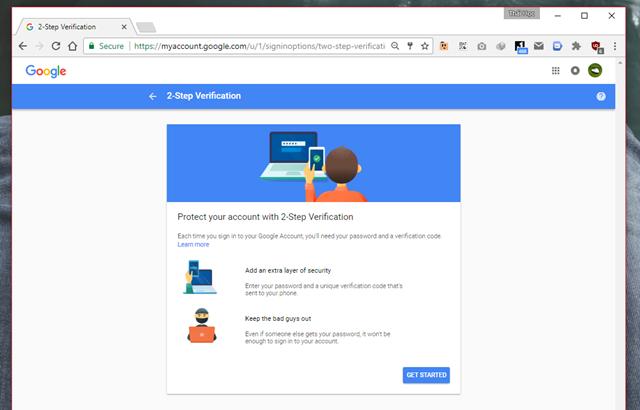chống xâm nhập tài khoản gmail